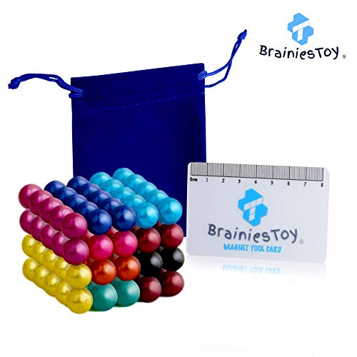 classement un comparer Brainiestoy – 100 couleurs de perles magnétiques néodyme 5mm (10 couleurs) – avec aimants de table…