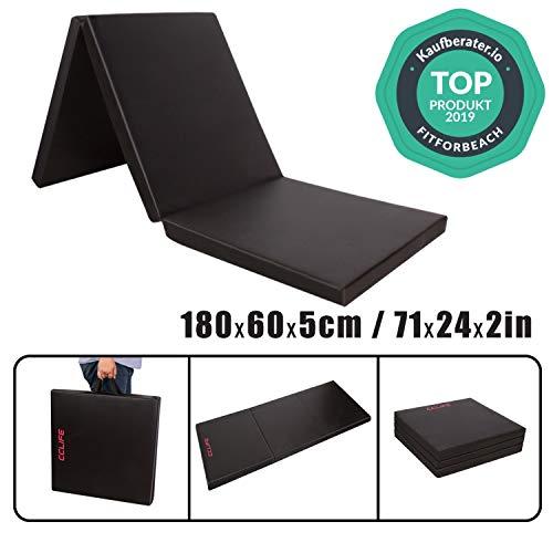 CCLIFE 180x60x5cm Klappbare Weichbodenmatte Turnmatte Fitnessmatte Gymnastikmatte rutschfeste Sportmatte Spielmatte
