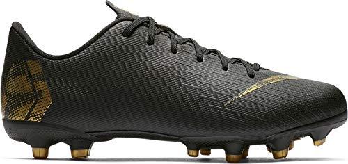 Nike Unisex-Kinder Vapor 12 Academy Gs MG Fußballschuhe, Schwarz (Black/MTLC Vivid Gold 077), 37 EU