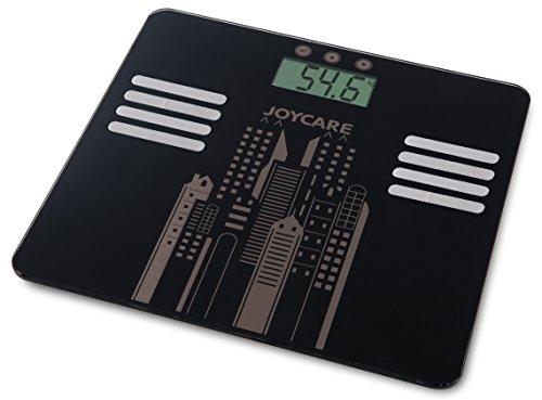 Joycare JC-1416 Báscula Personal electrónica Plaza Negro - Báscula de baño (Báscula Personal electrónica, 150 kg, 100 g, kg, LB, ST, Plaza, Negro)