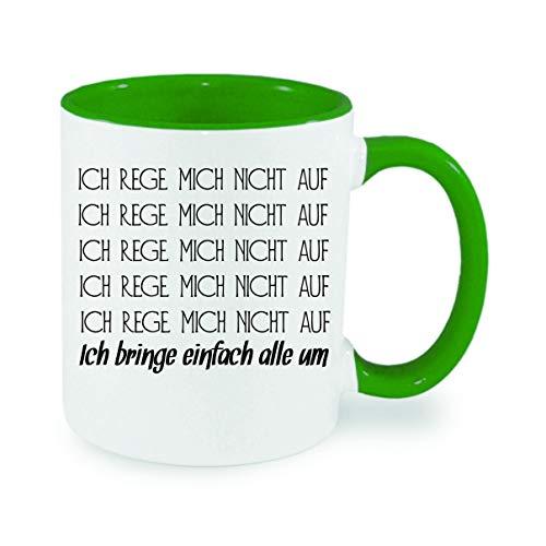 Crealuxe Ich rege Mich Nicht auf. - Kaffeetasse, Bedruckte Tasse mit Sprüchen oder Bildern, Bürotasse,