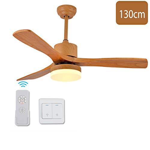 GXT Ventilador de techo LED24w comedor sala de estar dormitorio 130cm ventilador de techo luz ajustable ventilador de techo velocidad ajustable ventilador de techo luz suave (color: C)