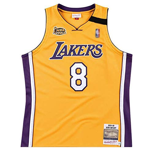 BCGG # 8 Kobe Bryant Fan Jersey Lakers Malla Chaleco de Baloncesto, 99-00 Temporada campeón Camiseta Precisión Bordado Camiseta Tops Hombres Chicos-A_M