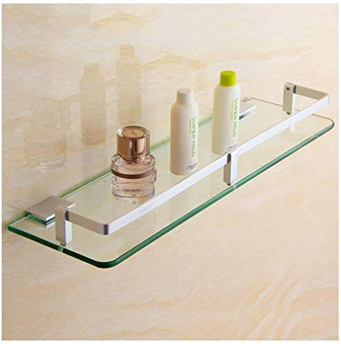 Learn More About Bathroom shelf Wall-Mounted Tempered Glass Rail Storage Basket Living Room Kitchen ...