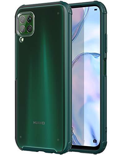 YATWIN Handyhülle Kompatibel mit Huawei P40 Lite Hülle, Matt Durchscheinend Anti Fingerabdruck, 4 Ecken Anti-Fall Hülle, Kratzfest rutschfest Schutzhülle für Huawei P40 Lite Hülle (Piniengrün)