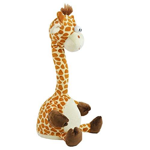 Kögler 76500 - Labertier Giraffe Gertrud, ca. 30 cm groß, nachsprechendes Plüschtier mit Aufnahme- und Wiedergabefunktion, plappert alles witzig nach und bewegt sich, batteriebetrieben