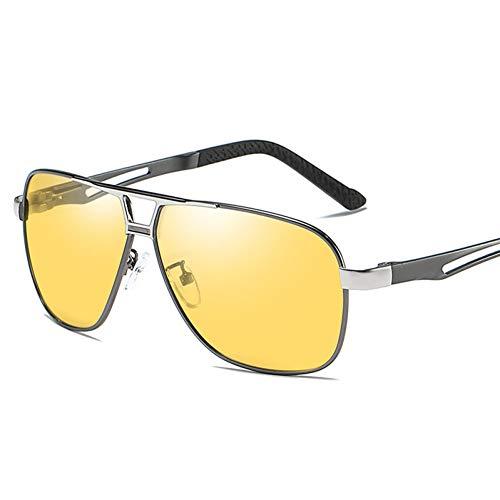 Burenqi Gafas de Sol fotocromáticas para Hombres Gafas de Sol polarizadas Camaleón Seguridad para el Conductor Gafas de visión Nocturna Gafas,Gun2