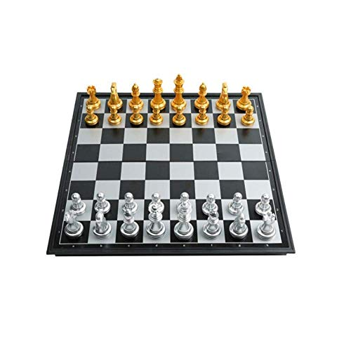 YAMMY Juego de Tablero de ajedrez Internacional, magnético, Juego de Tablero y Damas para niños, Juego de ajedrez Multifuncional 2 en 1 niños y Adultos (Juegos de ajedrez)