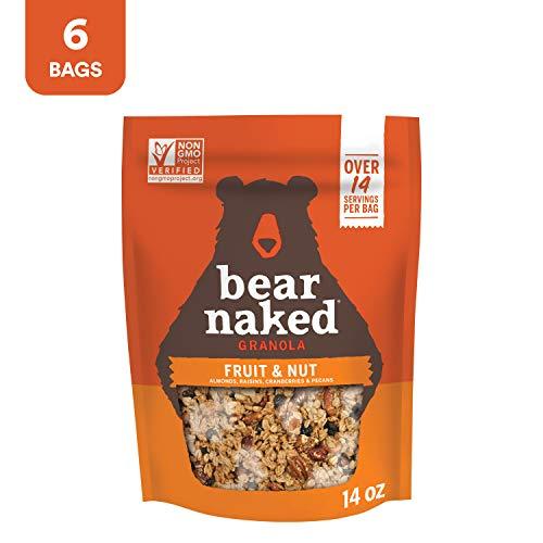 Bear Naked Fruit & Nut Granola - Non-GMO, Kosher, Vegetarian Friendly - 12 Oz (Pack of 6)