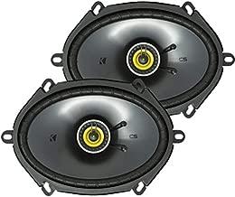 KICKER CS Series CSC68 6 x 8 Inch Car Audio System Speaker, Yellow (2 Pack)
