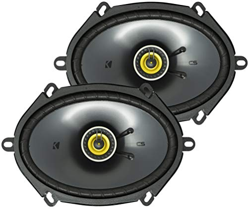 KICKER CS Series CSC68 6 x 8 Inch Car Audio System Speaker, Yellow (2 Pack)