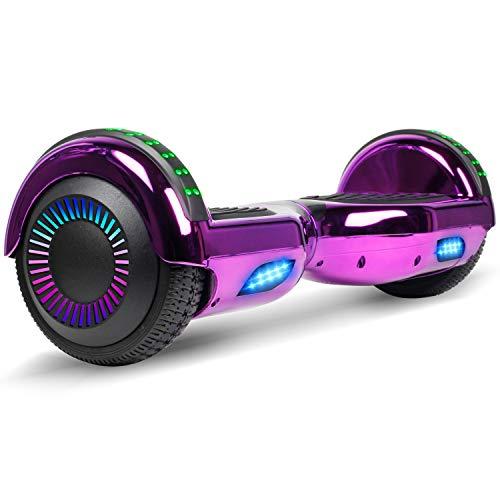 VEVEpower Hoverboard, 2 * 300W Motore Skateboard Self Balance Scooter Elettrico con Certificazione UL 2272, Borsa Inclusa, LED Nuove