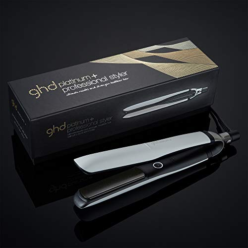 ghd Platinum+ Professional Performance Hair Styler, Ceramic Flat Iron, Hair Straightener, White