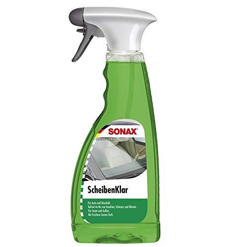 SONAX ScheibenKlar (500 ml) zum Entfernen von Insektenverschmutzungen und Straßenschmutz von Fahrzeugscheiben und Scheinwerfern | Art-Nr. 03382410