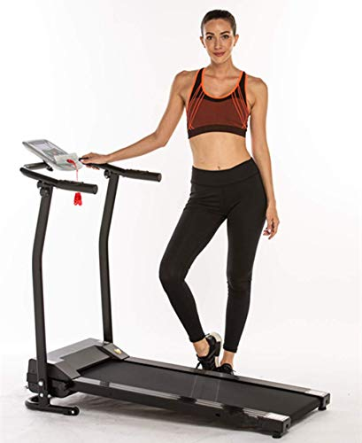 Flyerstoy Folding Electric Treadmill Exercise Equipment Walking Running Machine with 'Pacer Control' & Heart Rate System (1.5HP-Black)