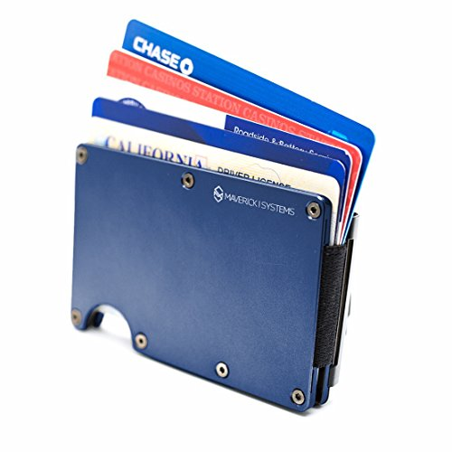RFID-Blocking Slim Minimalist Card Holder/Travel Wallet For Credit Cards