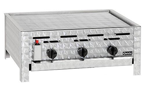 Bartscher Gas-Kombi-Tischbräter 3 Brenner Grillrost TB1100R - 1062303