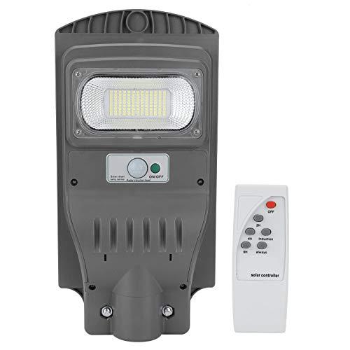 Luz solar de rua, 60 W à prova d'água, energia solar, radar, sensor de movimento, luzes de rua LED com controle remoto adequadas para parede ou postes ao ar livre em quadrados, parques, pátios, ruas