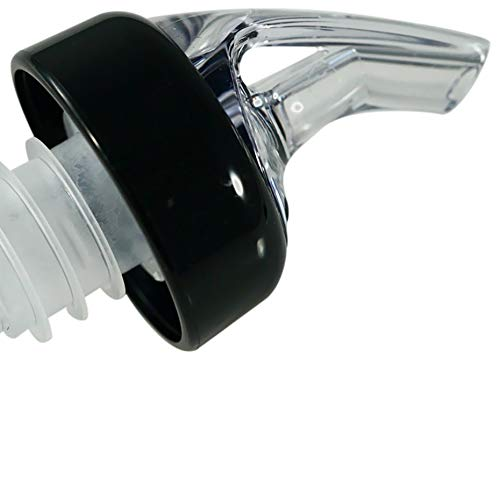AmeriPour - Measured Pourer - Liquor Bottle Pourers - Collared - (3pk) Made 100% In The USA. Bar Spouts That Don't Leak - No Cracks, Just A Perfect Cocktail Pour Everytime. Great for Wine Too! (1.5oz)