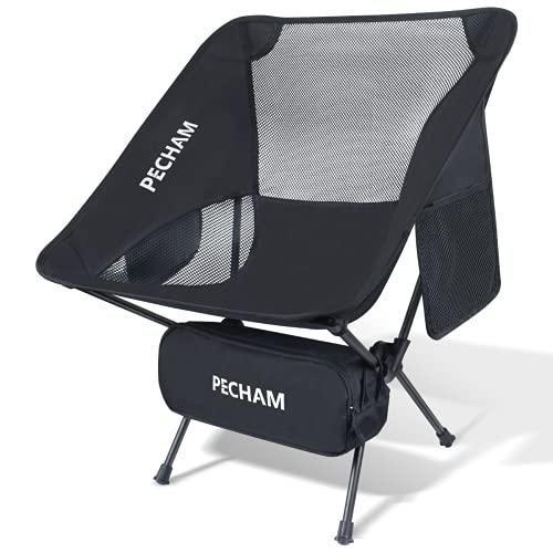 PECHAM アウトドアチェア キャンプ椅子 折りたたみ より安定 コンパクト 超軽量 ハイキング お釣り 登山 耐...