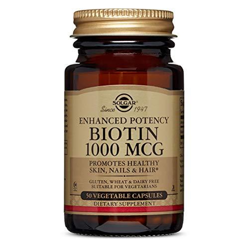 Solgar Biotin 1000mcg (Vitamin B8) 50 Vegetable Capsules