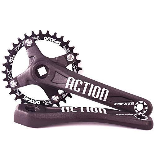 FMFXTR – Ensemble de pédalier pour vélo de VTT – 104 BCD – Lot de 32 à 42 T – En alliage d'aluminium – Chaîne ovale – Pour Shimano, FSA Gaint