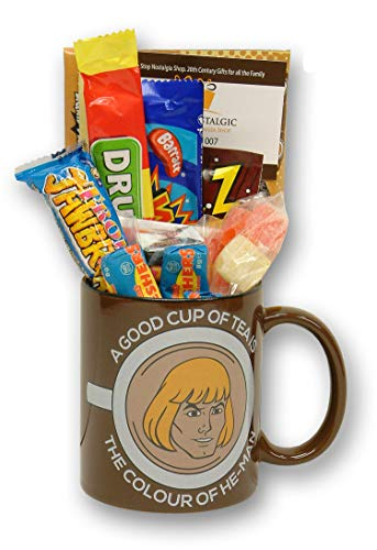 He-Man A Good Cup Of Tea Message Mug filled with 80s retro sweets