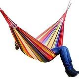 FuYouTa Hamac de Jardin Hamac de Camping de Voyage Ultra-léger Hamac de Jardin Portable en lit de Camping en Toile avec balançoire pour Dormir Suspendu Porche Cour hamac extérieur