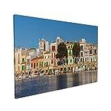 Lsjuee Portocolom Mallorca Verano Playa Paisaje urbano Pósters Decoración Pintura Lienzo Arte Pared Salón 40x60cm