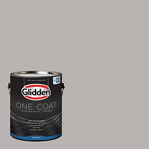 Glidden Interior Paint + Primer: Gray/Gray Marble, One Coat, Semi-Gloss, 1-Gallon