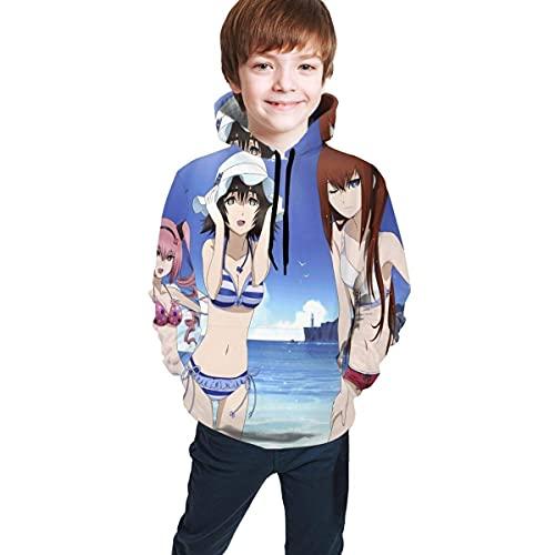 WBOBGD Steins Gate Faris Mayuri & Kurisu Suéter para Adolescentes Suéter Suave y cómodo