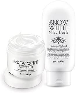 [Secretkey] Snow White Cream 50g+snow White Milky Pack 200g Set Bb Secret Key