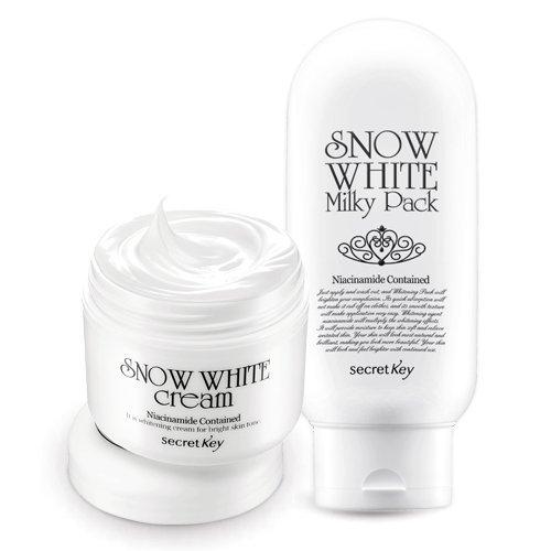 [Secretkey] Snow White Cream 50g+snow White Milky Pack 200g Set Bb Secret Key by Secret Key