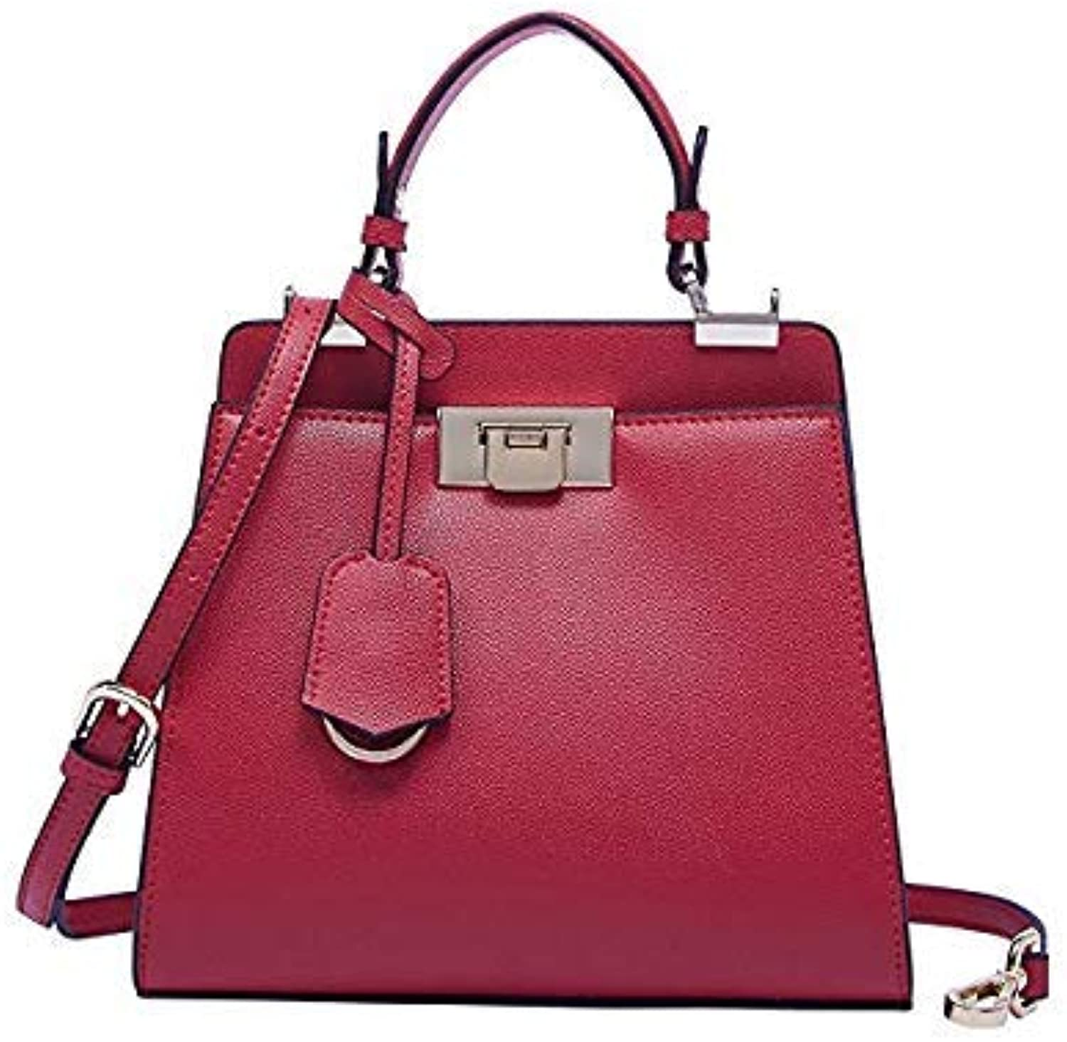 Bloomerang BOYATU Brand Luxury Handbags Women Bag Designer Handbag Genuine Leather Bags Fashion Newest Shoulder Bag Small Tote Two colors color red
