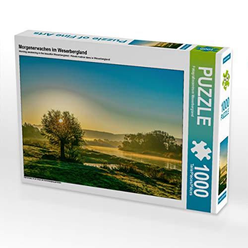 CALVENDO Puzzle Morgenerwachen im Weserbergland 1000 Teile Lege-Größe 64 x 48 cm Foto-Puzzle Bild von Ralf Schulze