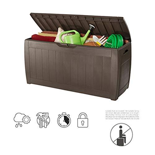 ZHOUAICHENG Tragbar 270L Draussen Garten Auflagenbox Wasserdichter Sonnenschutz Gartenbox Utility Gardening Tools 117 * 45 * 57 cm