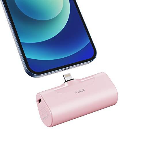 iWALK Mini Cargador Portátil, Banco de Energía Ultra Compacto de 4500 mAh, Batería Externa Pequeña y Linda Compatible con iPhone 11 Pro/XS MAX/XR/X / 8/7/6 / Plus,AirPods y Más