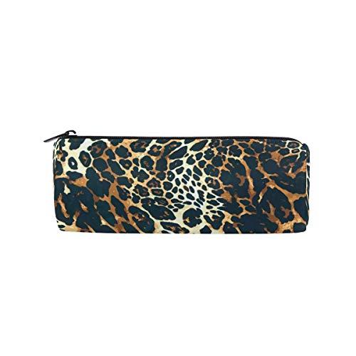Jaguar Leopard Print Bleistift Fall Studenten Briefpapier Aufbewahrungstasche Pen Organizer Reißverschlusstasche für Mädchen Teenager Kinder