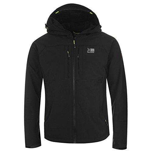 Karrimor Herren Alpiniste Soft Shell Jacke Mit Kapuze Winterjacke Steppjacke Schwarz Extra Lge