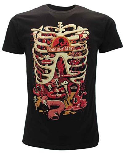 CID T-Shirt Originale Rick And Morty Anatomy Park novità Nera Maglia Maglietta (M)