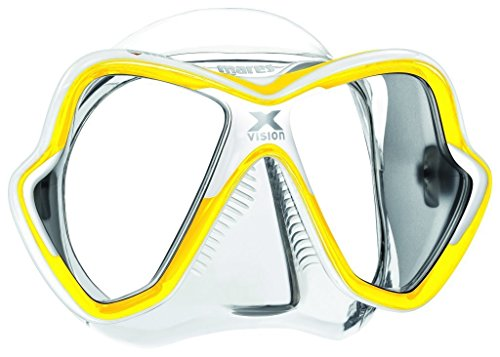 Mares Erwachsene X-Vision Mask 14 Taucherbrille, Gelb/Weiss, BX
