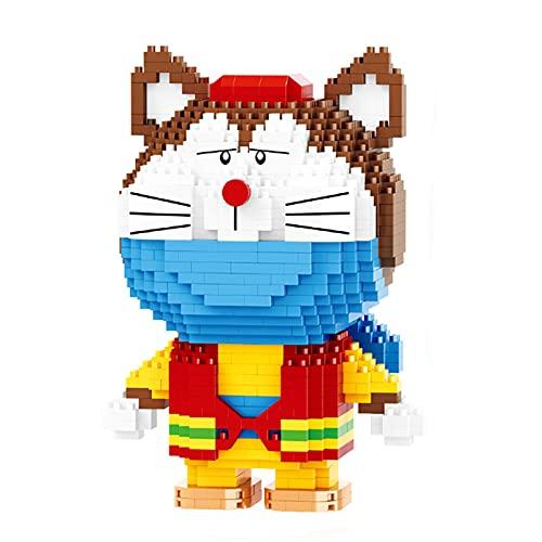 Anoauit Nano Mini Diamant Ziegel Roboter Cat 3D Modell DIY Puzzle Blau Fette Bausteine Montieren Pädagogisches Spielzeug für Kinder Geschenk