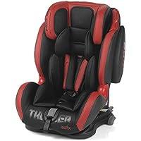 Be Cool Thunder Isofix - Silla de coche grupo 1 2 3, de 9 a 36 kg, con isofix, 4 posiciones de reclinado, cabezal y arnés ajustable, grupo 1 2 3, unisex, Color Rojo
