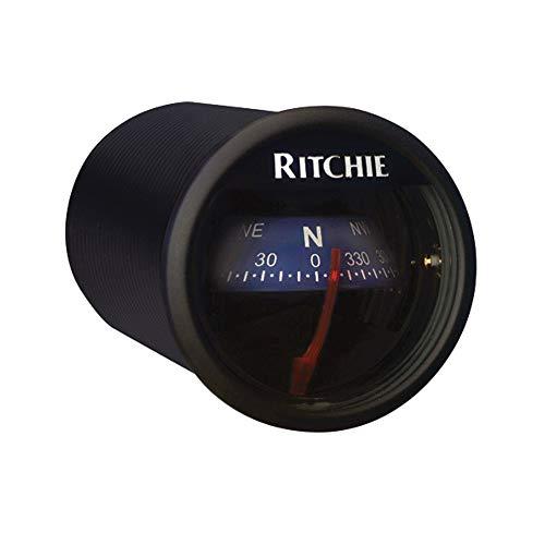 Ritchie Navigation Herren RitchieSport Gehäuse 5,1 cm Direktlesezifferblatt, Armaturenbrett-Halterung, Kompass, schwarz/blau, 2-inch Dial
