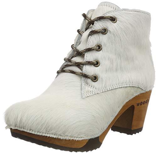 Woody Damen Betty Stiefeletten, Weiß (Fell Weiss 005), 40 EU