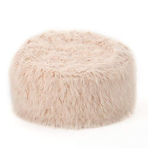 Christopher Knight Home Faux Fur Faux Fur Beanbag, 5', Pastel Pink
