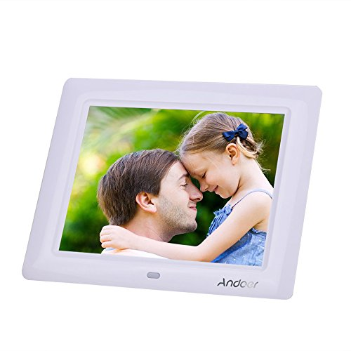 Andoer 8 '' HD TFT-LCD Digitali Foto Cornice Orologio MP3 MP4 Movie Player con Remote Desktop