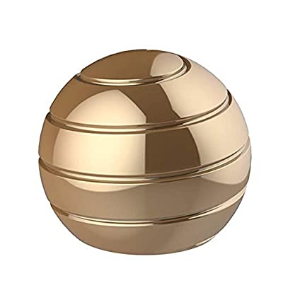 Aomeiter Desktop Motion Toys,Full Body Optical Illusion Fidget Spinner Ball,Creates a Mind-Bending Optical Illusion of Continuously Flowing Top Adult & Kids Pressure Reduction Toys Gifts(Gold) by Aomeiter
