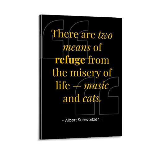 ERTEF Albert Schweitzer Zitate auf Leinwand, Poster & Wandkunst, Kunstdruck, modernes Familienschlafzimmerdekor, 50 x 75 cm