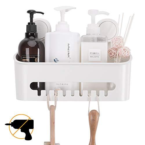 TAILI DIY Mensola per Doccia, per Bagno Scaffale con Ganci Doccia Caddy Rack a Muro per Cucina, Senza Foratura, per Organizzare Shampoo